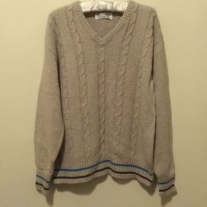 AUTHENTIC CHRISTIAN DIOR CABLE KNIT SWEATER, XL.